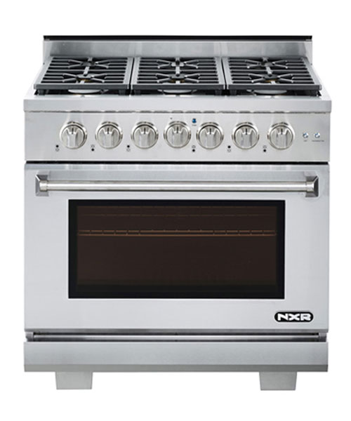 NXR AK3605-LP, Propane 36 inch Gas Range, 6 Burners (LP gas)