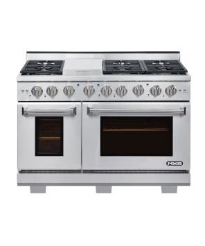 NXR AK4807-LP, 48 inch Gas Range, 6 Burners, Griddle, LP Gas