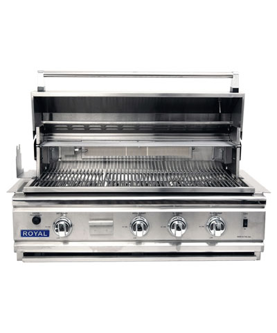 Royal Outdoor Grill, 36 inch wide, Stainless Steel, Smoker Box