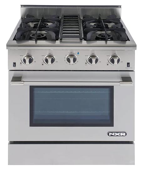 NXR DRGB3001 Professional 30 inch Gas Range for Propane (LP)