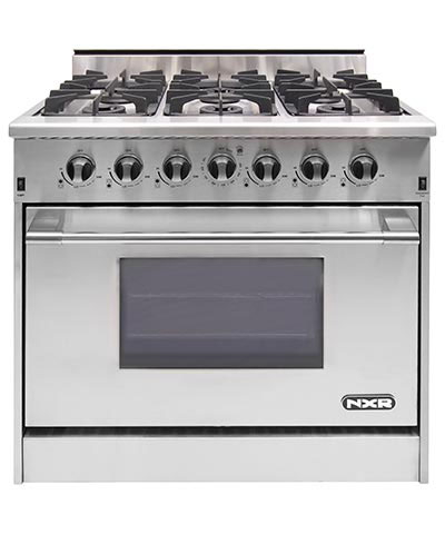 NXR DRGB3602-LP, Propane 36 inch Gas Range, 6 Burners (LP gas)