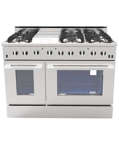 NXR DRGB4801, 48 inch Gas Range, 6 Burners, Griddle