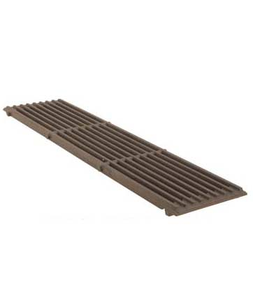 Grate, Top, Cast Iron, 9 bar (21 inch x 5-1/8 inch x 5/8 inch)