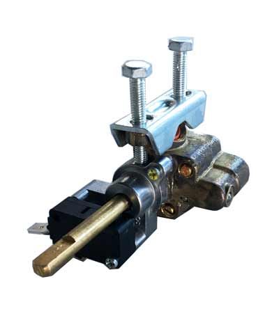 Burner Valve Assembly for Top Burners, with microswitch