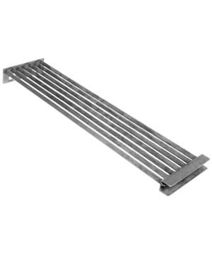 Grate for SCB, Straight oriented Diamond shaped Ribs, Stainless