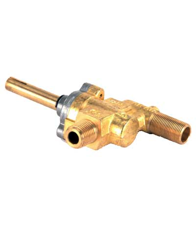 Valve for burner, offset, on Stock Pot Range (SPR)