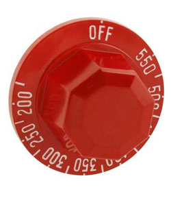 Dial, Red, Thermostat (KX), for Wolf Griddles, ASA or MSA