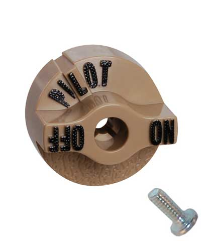 Knob for combination pilot safety valve