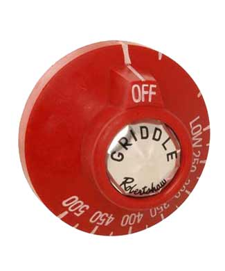 Dial for Thermostat on Griddles, Red