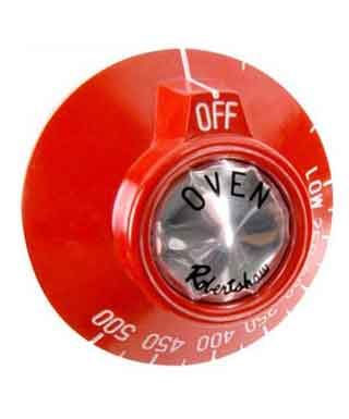 Dial for Thermostat on Ovens, Red (Wolf, Vulcan)