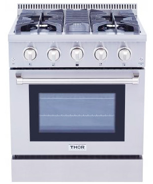 THOR 30 inch Professional Dual Fuel, Electric Oven (LP Propane)