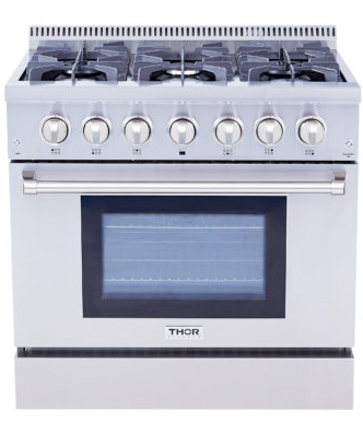 THOR 36 inch Professional Dual Fuel, Electric Oven (Natural Gas)