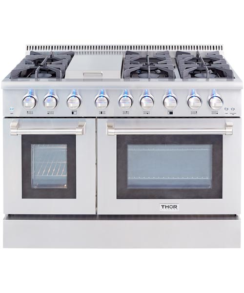 THOR 48 inch Professional Dual Fuel, 2 Electric Ovens (LP Gas)
