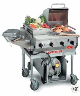 MagiCater LPAGA-30SS Commercial Barbecue Grill