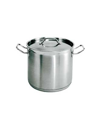 24 Quart Stainless steel stockpot, with lid