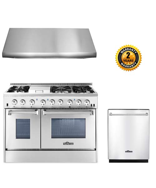 THOR Kitchen Suite 48 inch Gas Range, Hood, Dishwasher