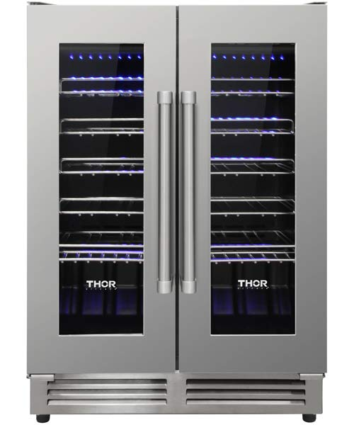 Wine Cellar, Professional S/S, holds 42 wine bottles, by THOR