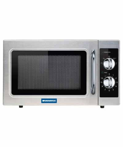 Commercial Microwave, Manual, 1000 watts, Stainless