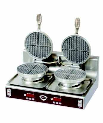 Wells Waffle Iron Dual Double Baker (220-240 Volt)