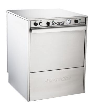 Low Temp. Under Counter Dishwasher: X-33