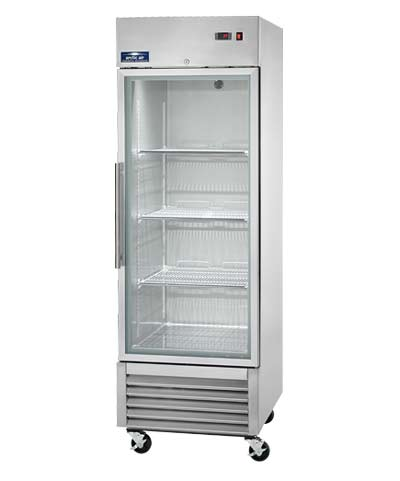 Refrigerator with Glass Door: 1 Door Reach-In