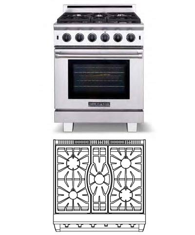Cuisine Series, 30 inch, 5 Burners (LP Gas)