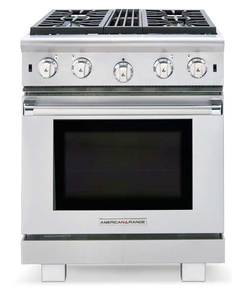 Performer Series: 30 inch, 4 burners (Nat. Gas), All Metal Knobs