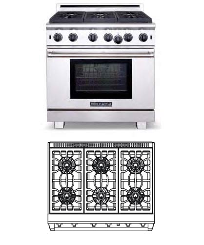 Performer Series: 36 inch, 6 burners (Nat. Gas)