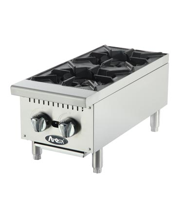 Atosa Countertop Hot Plate, Two Burner