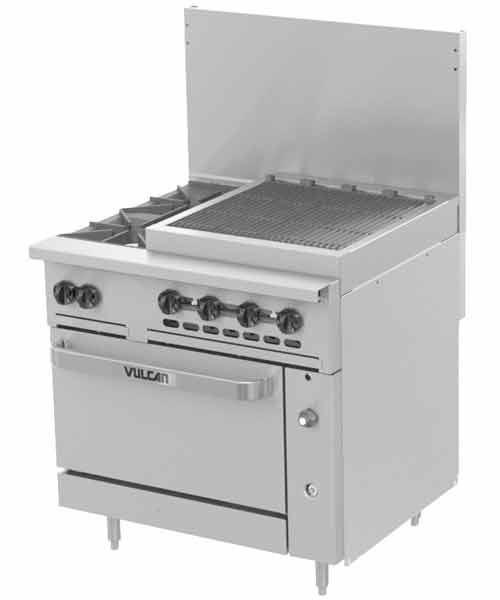 Challenger XL 36 inch Charbroiler, 2 Burners (LP gas)