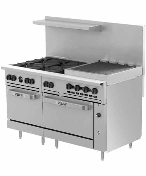 Challenger XL 60 inch Charbroiler, 2 Burners, Convection