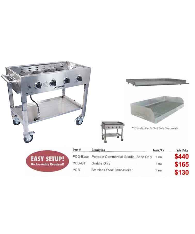 Portable Commercial Char Broiler top and Base (LP gas)