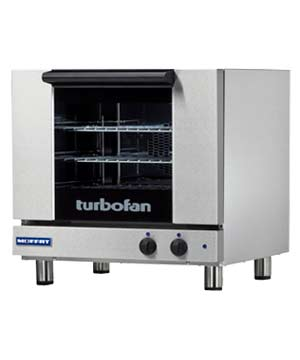 E23M3 TurboFan Convection Oven, half-size, 3-tray (208 Volt)
