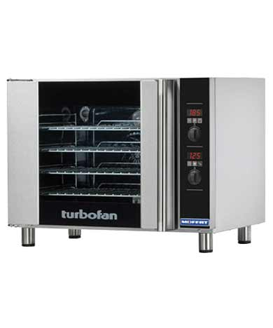 E31D4 TurboFan Convection Oven, half-size, 4-tray (208 Volt)
