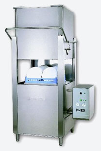 High Temp. Dish & Tray Single Rack Dishwasher: F-22