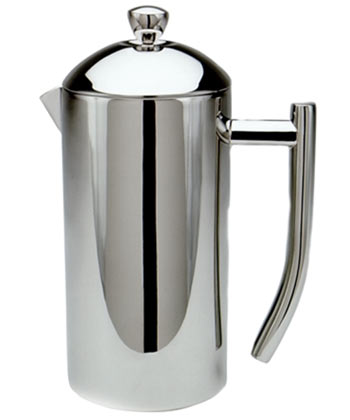 Ultimo French Press, Polished Stainless Steel, 17 ounce, 3-4 cup