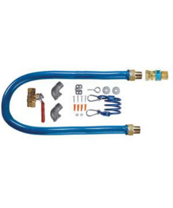 Deluxe Gas Connector Kit, 1/2 inch, Quick-connect (residential)