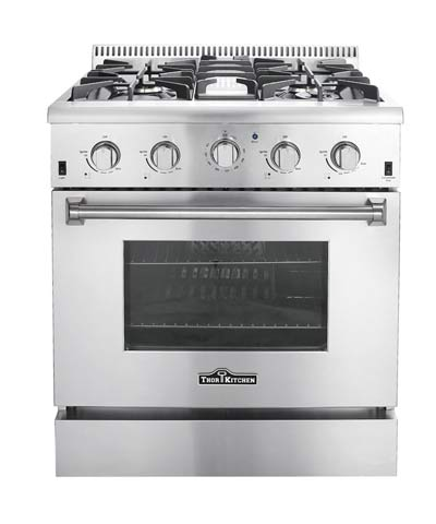 THOR 30 inch Professional Gas Range with 4 burners (LP gas)