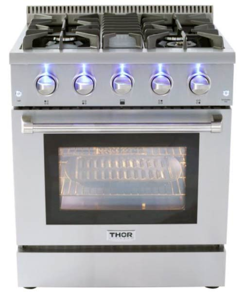 THOR 30 inch Professional Gas Range with 4 burners