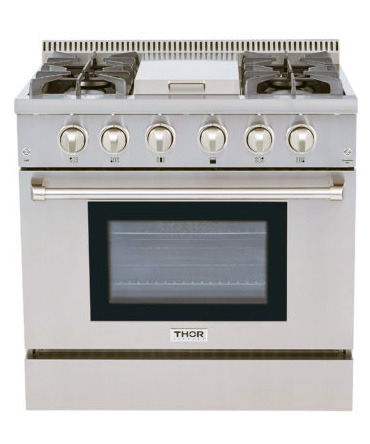 THOR 36 inch Professional Range with center 15K BTU Griddle