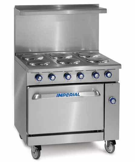 Imperial Heavy Duty Range, Six Burner, Electric (Free Shipping)