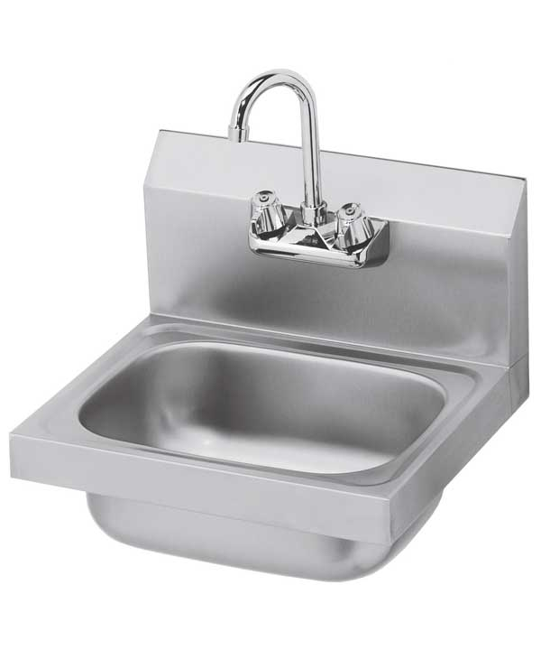 Hand Wash Sink, 16 inches wide, NSF certified, low-lead