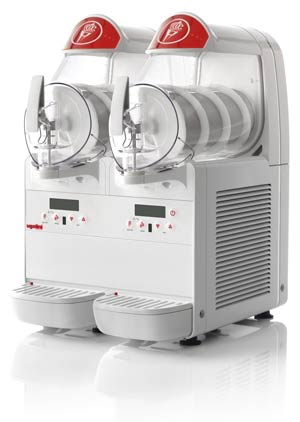 Countertop Soft Serve Ice Cream Machine, Two Bowls
