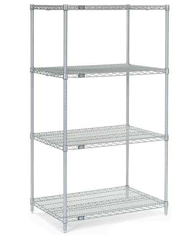 Chrome Shelving Unit Kit, 24x72x74