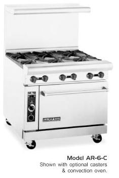 Restaurant Range, 36 inch from American Range, 6 burners
