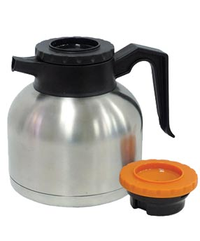 Airpot 1.9 Liter, Stainless Steel, Double Wall, Brew-thru lids