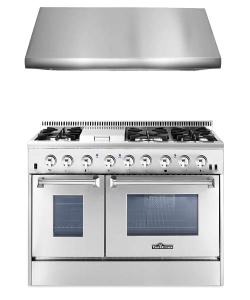 THOR Kitchen Suite 48 inch Professional Gas Range with Hood