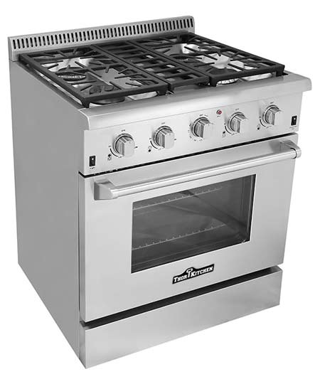 THOR 30 inch Professional Gas Range with 4 burners, IR Broil