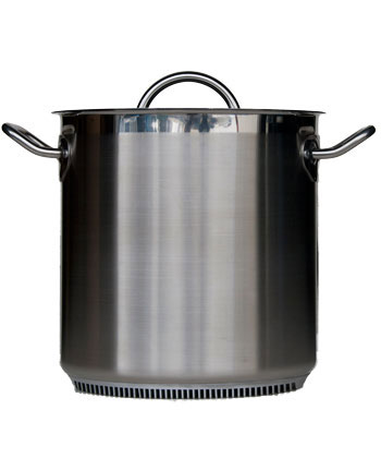 Turbo Pot Stock Pot, 11 inches/18.2 quarts, lid included (S/S)