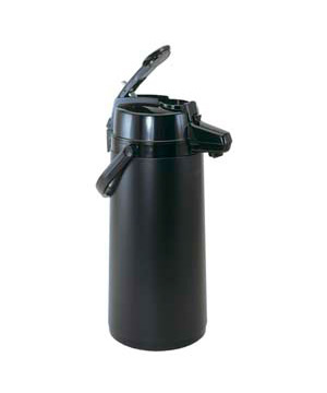 Airpot 2.2 Liter, Lever Top, Glass Lined, Regular, All Black
